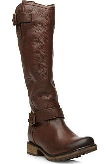 STEVE MADDEN Fairport leather knee-high boots