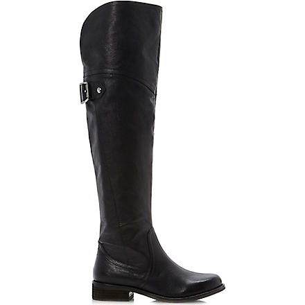 STEVE MADDEN Ottowa leather over-the-knee riding boots (Black-leather