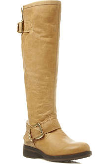 STEVE MADDEN Barton leather riding boots