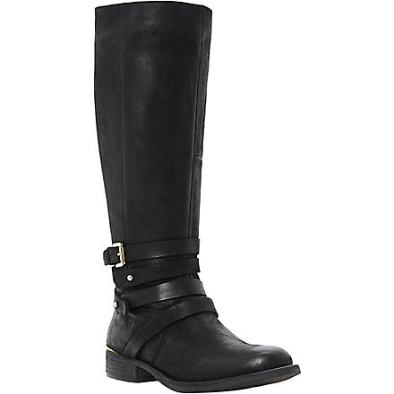 STEVE MADDEN Albany leather knee-high boots (Black-leather