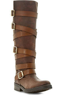 STEVE MADDEN Bryannt buckle knee high boots