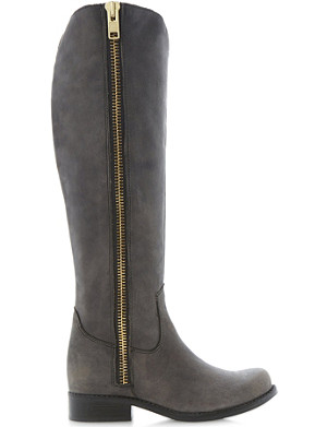 STEVE MADDEN Ruse leather over-the-knee high boots