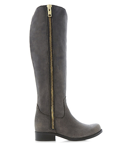 STEVE MADDEN Ruse leather over-the-knee high boots (Black-leather