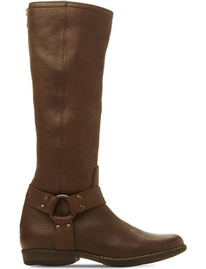 STEVE MADDEN Holden - stirrup detail knee high leathe