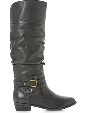 STEVE MADDEN Casstro SM ruched leather over-the-knee boots