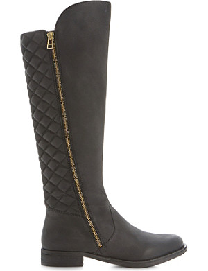 STEVE MADDEN Northside SM quilted-back knee high boots