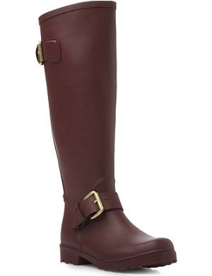 STEVE MADDEN Dreench buckle-detail wellies