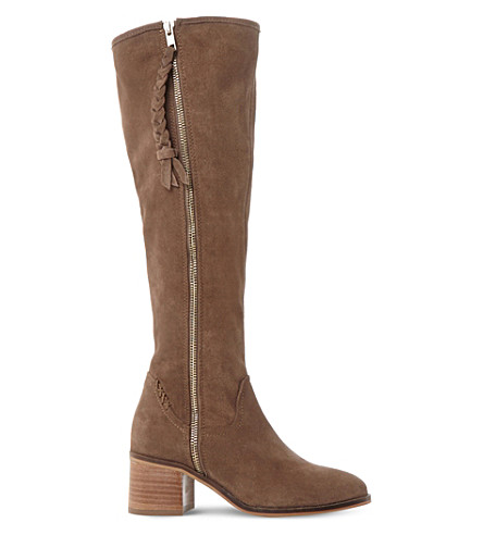 STEVE MADDEN Lasso suede knee high boots (Taupe-suede