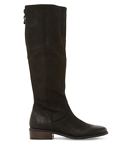 STEVE MADDEN Jollie leather knee high boots (Black-leather
