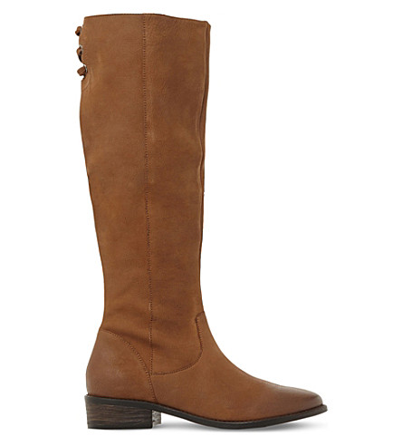 STEVE MADDEN Jollie leather knee high boots (Tan-leather