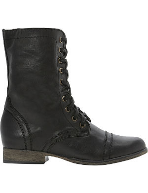 STEVE MADDEN Troopa leather work boots