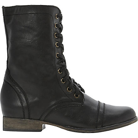 STEVE MADDEN Troopa leather work boots (Black