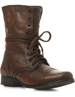 STEVE MADDEN Troopa SM lace-up leather boots