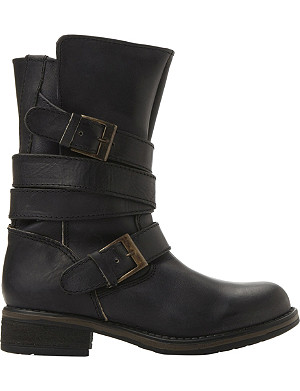 STEVE MADDEN Kindell leather biker boots