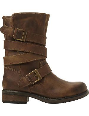 STEVE MADDEN Kindell leather biker boots