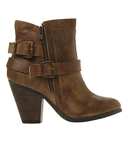 STEVE MADDEN Nother leather boots (Brown leather
