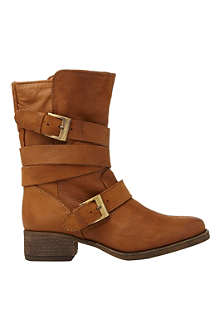 STEVE MADDEN Brewzer leather ankle boots