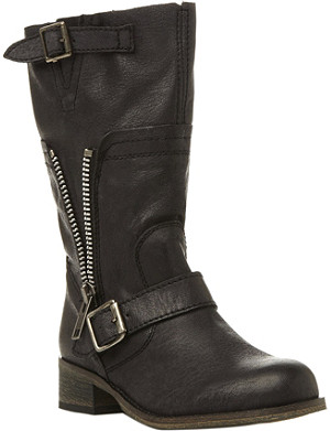 STEVE MADDEN Deziary leather biker boots