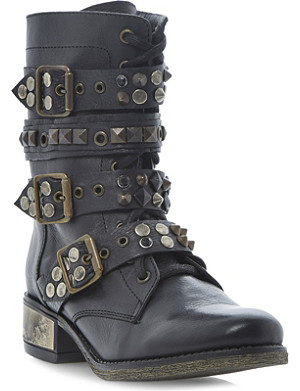 STEVE MADDEN Lilianne studded buckle boots
