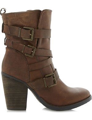 STEVE MADDEN Yale heeled buckle ankle boots