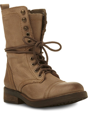 STEVE MADDEN Monch leather lace up combat boots