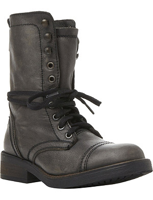 STEVE MADDEN Monch-c SM calf-leather biker boots