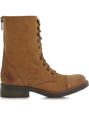 STEVE MADDEN Monch-c SM calf-leather biker boots