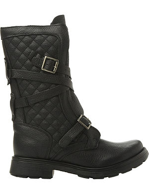 STEVE MADDEN Bounty quilted leather biker boots