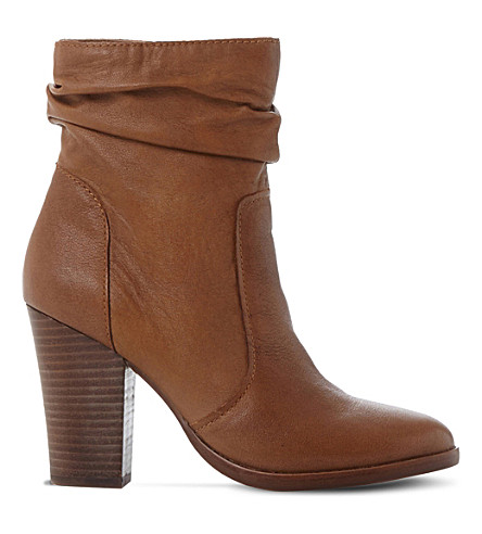STEVE MADDEN Hunk slouchy leather boots (Tan-leather