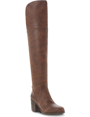 STEVE MADDEN Odyssey leather over-the-knee boots