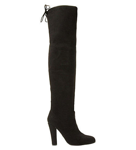 STEVE MADDEN Suede over-the-knee boots (Black-micro+fibre