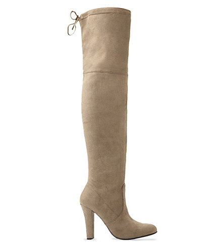 STEVE MADDEN Gorgeous suede over-the-knee boots (Taupe-micro+fibre