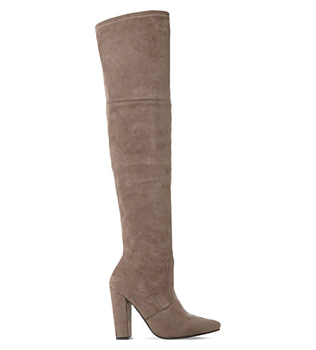 STEVE MADDEN Rocking sm over-the-knee boot (Taupe-micro+fibre
