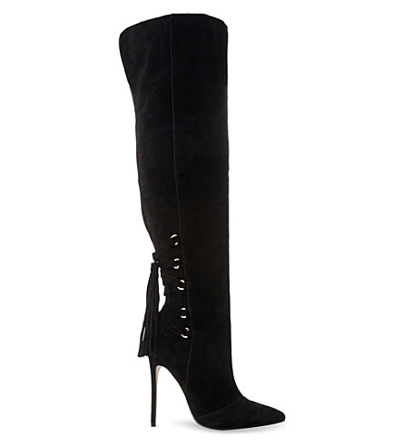 STEVE MADDEN Norland SM suede over-the-knee boot (Black-suede