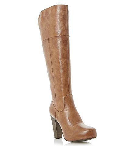 STEVE MADDEN Rikki concealed platform knee-high boots (Tan-leather