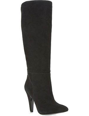 STEVE MADDEN Ruched knee-high suede boots