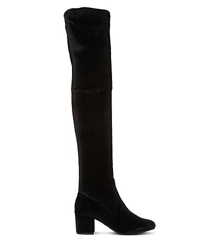 STEVE MADDEN Isaac sm velvet over-the-knee boots (Black-velvet