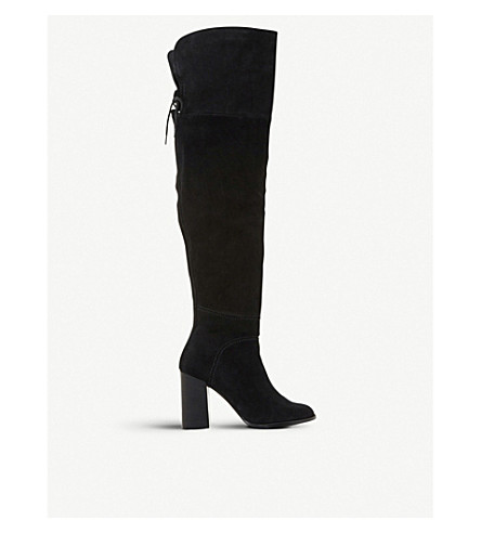 STEVE MADDEN Novela 麂皮绒 over-the-knee 靴 (黑色