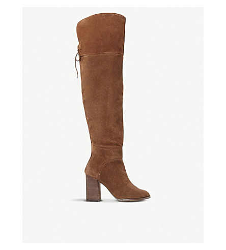 STEVE MADDEN Novela suede over-the-knee boots (Tan-suede