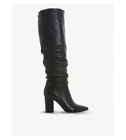 fe558ba171b STEVE MADDEN - Sensai ruched leather knee-high boots