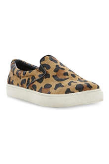 STEVE MADDEN Ecentric leopard print slip on trainers