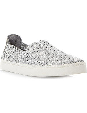 STEVE MADDEN Woven slip on trainer
