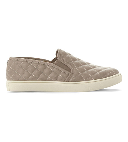 STEVE MADDEN Ecentricq quilted slip-on trainers (Grey-synthetic