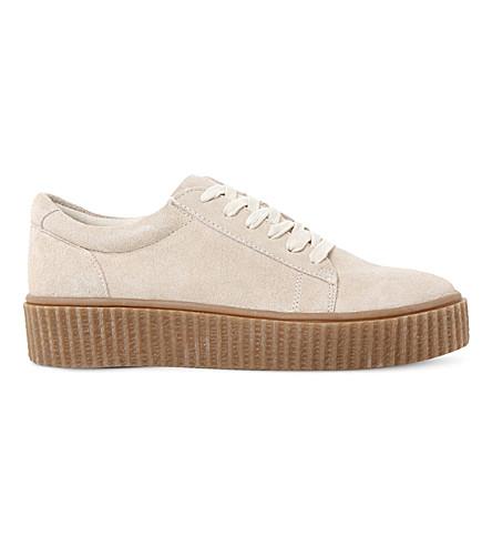 STEVE MADDEN Holllly Creeper flatform sneaker (Off white-suede