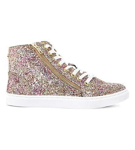 ... STEVE MADDEN Earnst glitter high-top sneakers (Multi-glitter.  PreviousNext