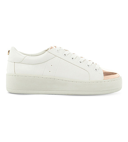 STEVE MADDEN Bertie-M metallic flatform trainers (White-synthetic
