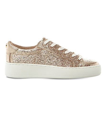 STEVE MADDEN Bertie metallic flatforms (Rose+gold-synthetic