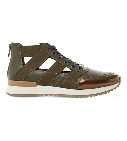 STEVE MADDEN Trinity cutout trainers (Khaki-synthetic