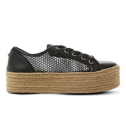 STEVE MADDEN Mars platform espadrille sneakers (Black-synthetic