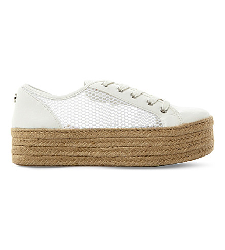 STEVE MADDEN Mars perforated mesh trainers (White-synthetic